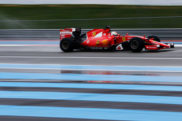 Paul Ricard, France. Tuesday 26 January 2016. Sebastian Vettel, Ferrari SF15-T.  World Copyright: Steven Tee/LAT Photographic ref: Digital Image _X0W8076