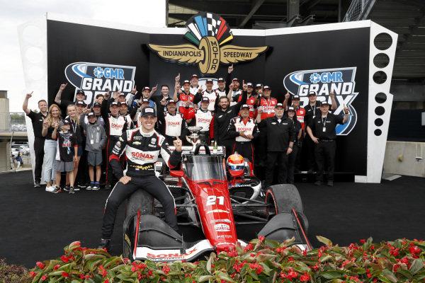 #21: Rinus VeeKay, Ed Carpenter Racing Chevrolet Victory Lane