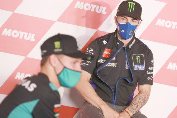 Fabio Quartararo, Petronas Yamaha SRT Maverick Vinales, Yamaha Factory Racing.