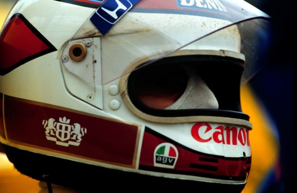 1987 British Grand Prix.Silverstone, England.10-12 July 1987.Nelson Piquet (Williams Honda) 2nd position.World Copyright - LAT Photographic