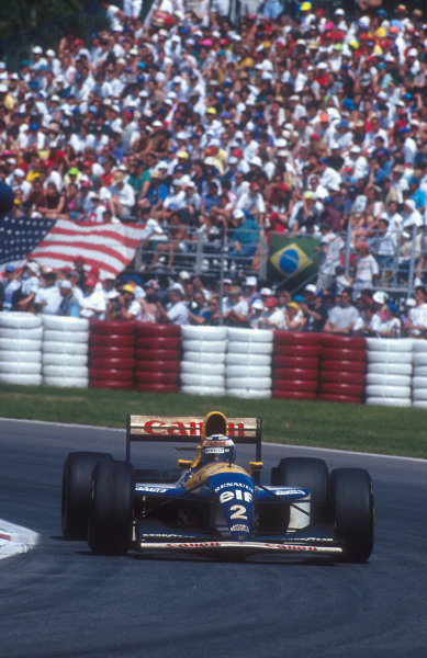 1993 Canadian Grand Prix.Montreal, Quebec, Canada.11-13 June 1993.Alain Prost (Williams FW15C Renault) 1st position.Ref-93 CAN 07.World Copyright - LAT Photographic