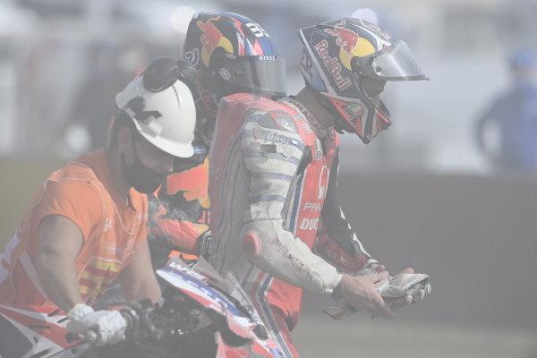 Jack Miller, Pramac Racing and Brad Binder, Red Bull KTM Factory Racing crash.