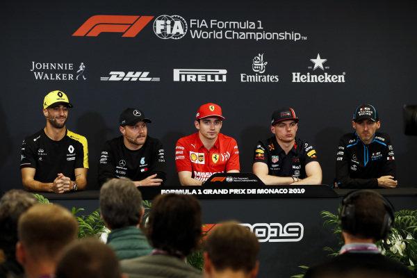 Daniel Ricciardo, Renault F1 Team, Valtteri Bottas, Mercedes AMG F1, Charles Leclerc, Ferrari, Max Verstappen, Red Bull Racing and Robert Kubica, Williams Racing in Press Conference