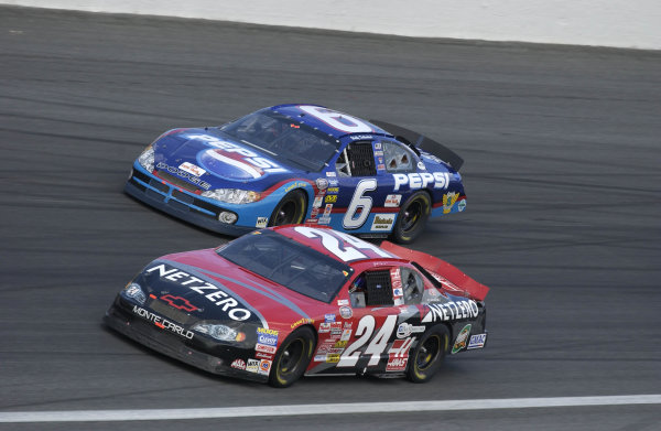 2002 NASCAR,Charlotte Motor Speedway,North Carolina, USA, UAW-GM Qualty 500, October 10-13 2002 USA-Jack Sprague races Wally Dallenbach Jr. in BGN action,Copyright-Robt LeSieur2002LAT Photographic