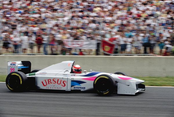 1994 French Grand Prix.Magny-Cours, France. 30/6-2/7 1994.Paul Belmondo (Pacific PR01 Ilmor).Ref-94 FRA 31.World Copyright - LAT Photographic