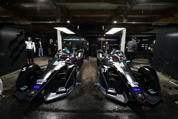 The HWA Racelab, VFE-05 cars in the garage