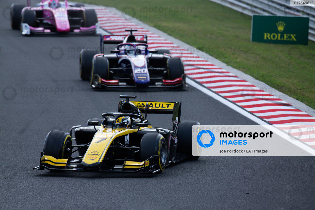 HUNGARORING, HUNGARY - AUGUST 04: Guanyu Zhou (CHN, UNI VIRTUOSI) during the Hungaroring at Hungaroring on August 04, 2019 in Hungaroring, Hungary. (Photo by Joe Portlock / LAT Images / FIA F2 Championship)