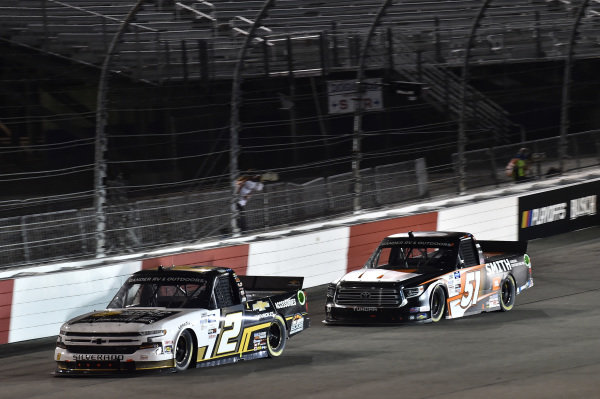 #2: Sheldon Creed, GMS Racing, Chevrolet Silverado Chevy Accessories #51: Chandler Smith, Kyle Busch Motorsports, Toyota Tundra JBL/Smith General Contracting