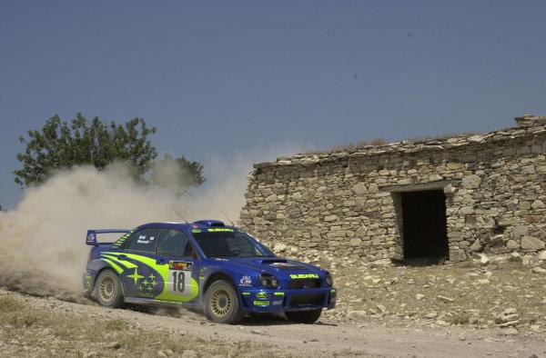 2001 World Rally ChampionshipCyprus Rally June 1-3, 20014th place finisher Toshihiro Arai.Photo: Ralph Hardwick/LAT