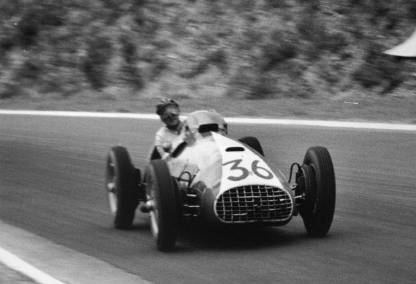 1952 French Grand Prix.Rouen-les-Essarts, France. 6 July 1952.Rudolf Fischer/Peter Hirt (Ecurie Espadon Ferrari 212). Ref-52/28 #36.World Copyright - LAT Photographic