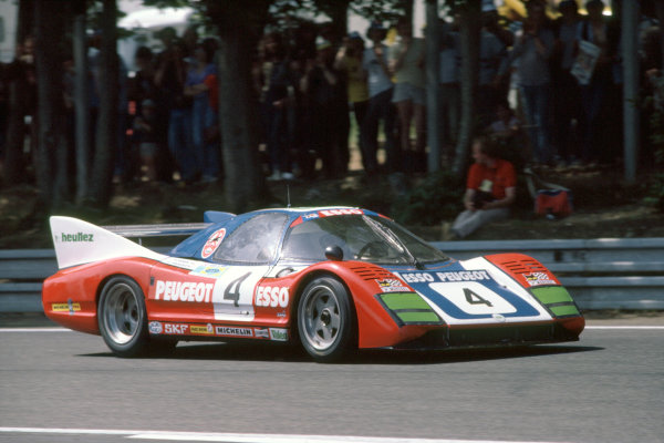 1981 Le Mans 24 HoursLe Mans, France. 13th - 14th June.Denis Morin/Xavier Mathiot/Charles Mendez (WM P79/80-Peugeot), 13th position.World Copyright: Murenbeeld/LAT Photographic.