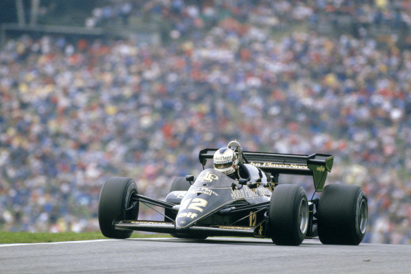 1984 Austrian Grand PrixOsterreichring, Austria 17th - 19th August.Nigel Mansell (Lotus 95T Renault) retired with an engine problem.World Copyright: LAT Photographic.Ref: 84 AUT 04