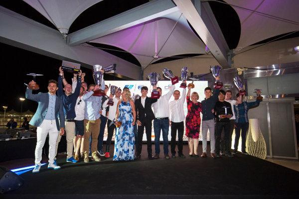 2017 Awards Evening. Yas Marina Circuit, Abu Dhabi, United Arab Emirates. Sunday 26 November 2017. Award winners on stage. Photo: Zak Mauger/FIA Formula 2/GP3 Series. ref: Digital Image _X0W0237