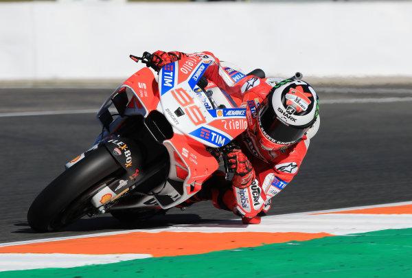 2017 MotoGP Championship - Valencia test, Spain. Tuesday 14 November 2017 Jorge Lorenzo, Ducati Team World Copyright: Gold and Goose / LAT Images ref: Digital Image 706839
