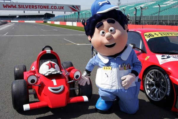 Roary the Racing Car and Big Chris with a Ferrari 430 GT2 FIA GT Championship Preview, Silverstone, England, 22 April 2009.