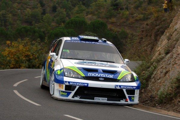 2005 FIA World Rally Championship, Rally Catalunya-Costa Daurada, October 27-30, 2005.Salou, Spain.Shakedown.Daniel Sola (ESP) on the shakedown stage.Digital Image