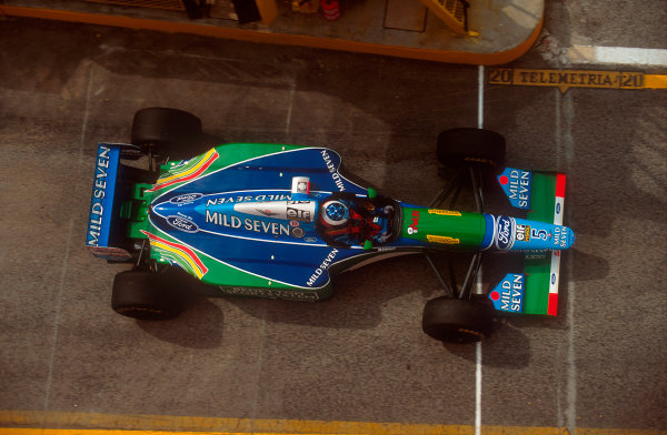 Imola, Italy.29/4-1/5 1994.Michael Schumacher (Benetton B194 Ford) 1st position.Ref-94 SM 47.World Copyright - LAT Photographic