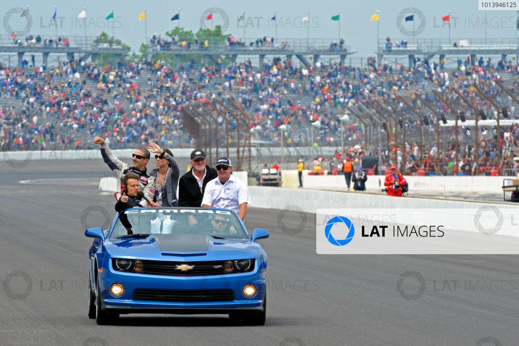 26 May, 2013, Indianapolis, Indiana, USA Winner Tony Kanaan (#11) takes a Victory Lap. ©2013, F. Peirce Williams LAT Photo USA