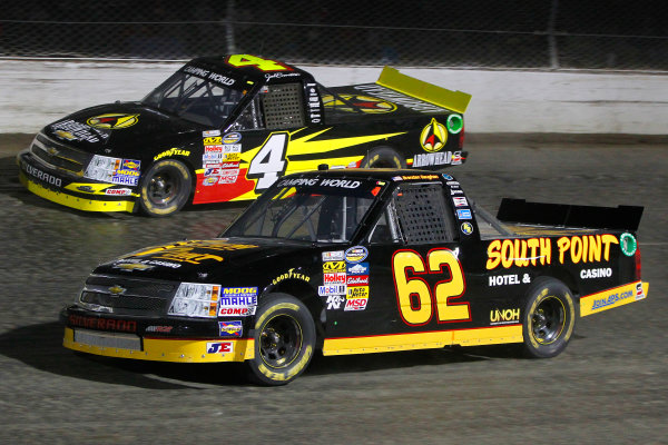 23-24 July, 2013, Rossburg, Ohio USA Brendan Gaughan and Jeb Burton © 2013, Russell LaBounty LAT Photo USA
