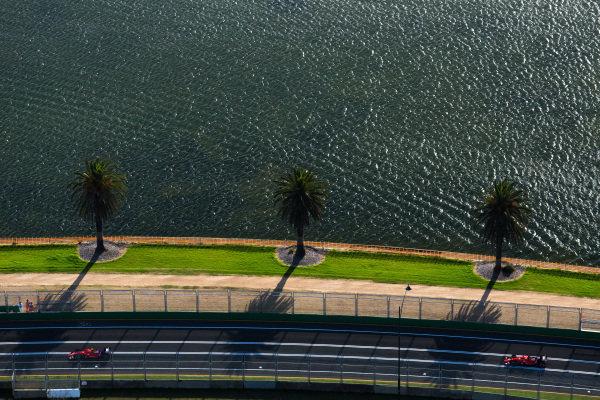 Kimi Raikkonen (FIN) Ferrari SF15-T and Sebastian Vettel (GER) Ferrari SF15-T at Formula One World Championship, Rd1, Australian Grand Prix, Practice, Albert Park, Melbourne, Australia, Friday 13 March 2015. BEST IMAGE