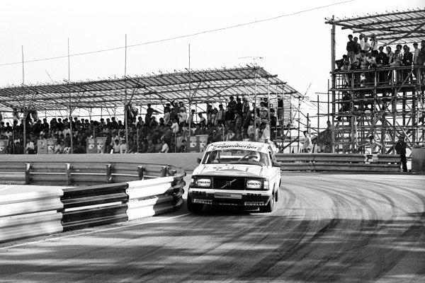 Race winner Gianfranco Brancatelli (ITA) Eggenberger Volvo 240 Turbo.Macau Guia Race for Touring Cars, Macau, Hong Kong, 25 November 1985.