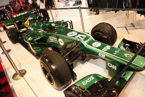 Caterham F1 show car. Autosport International Show, NEC, Birmingham, England, Day Two, 10 January 2014.