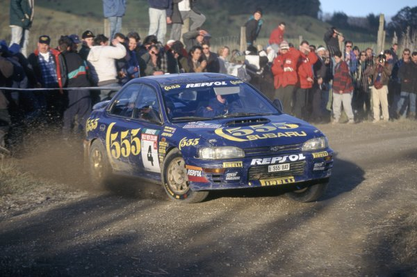1995 World Rally Championship.New Zealand Rally, New Zealand. 27-30 July 1995.Colin McRae/Derek Ringer (Subaru Impreza 555), 1st position.World Copyright: LAT PhotographicRef: 35mm transparency 95RALLY09