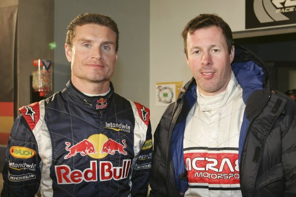 2005 Race of ChampionsStade de France, Paris, France. 3rd December 2005David Coulthard (GBR), Red Bull Racing and Colin McRae (GBR). Portrait.World Copyright: Russell Batchelor / LAT Photographicref: 05RaceofChamp57