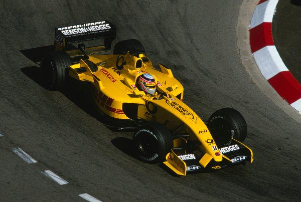2002 Monaco Grand Prix.Monte Carlo, Monaco. 23-26 May 2002.Takuma Sato (Jordan EJ12 Honda).Ref-02 MON 44.World Copyright - Lorenzo Bellanca/LAT Photographic