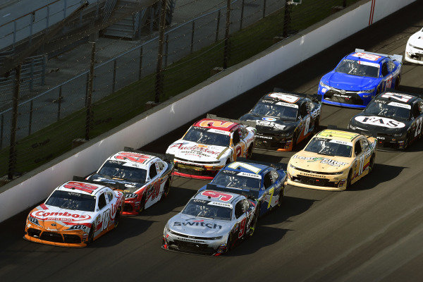 #18: Kyle Busch, Joe Gibbs Racing, Toyota Supra Combos and #9: Noah Gragson, JR Motorsports, Chevrolet Camaro Switch