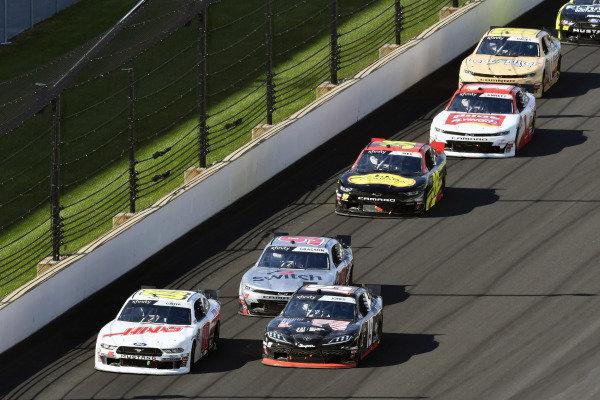 #00: Cole Custer, Stewart-Haas Racing, Ford Mustang Haas Automation and #19: Brandon Jones, Joe Gibbs Racing, Toyota Supra First Foundation