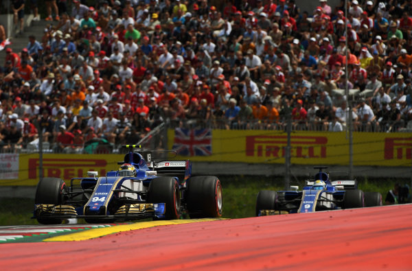 Pascal Wehrlein (GER) Sauber C36 at Formula One World Championship, Rd9, Austrian Grand Prix, Race, Spielberg, Austria, Sunday 9 July 2017.