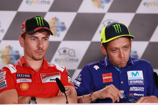 Jorge Lorenzo, Ducati Team, Valentino Rossi, Yamaha Factory Racing.