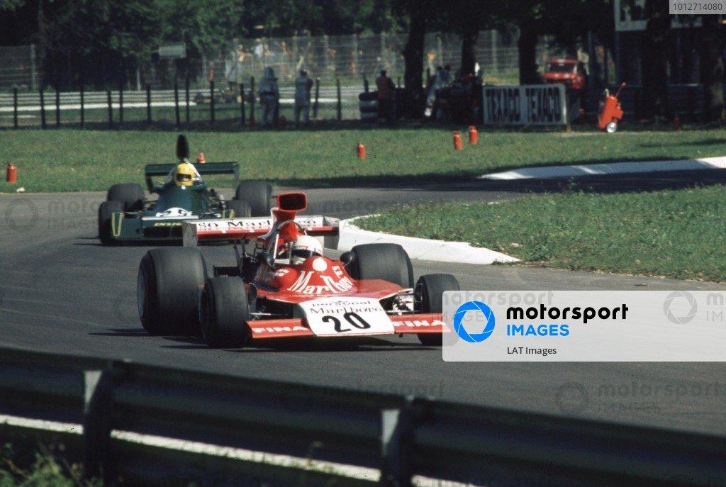 1974 Italian Grand Prix.Monza, Italy.6-8 September 1974.Arturo Merzario (Williams FW04 Ford) 4th position.World Copyright - LAT Photographic