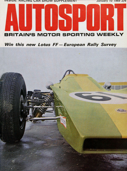 Cover of Autosport magazine, 10th January 1969