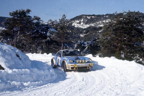 Monte Carlo Rally, Monaco. 21-28 January 1978.Jean-Pierre Nicolas/Vincent Laverne (Porsche 911 Carrera RS), 1st position.World Copyright: LAT PhotographicRef: 35mm transparency 78RALLY13