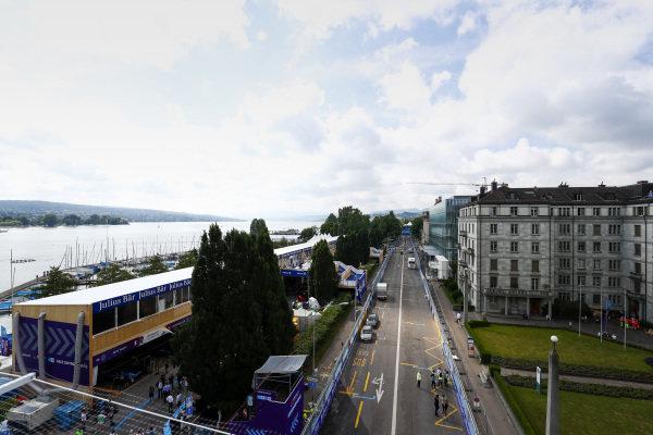 Pit lane for the Zurich ePrix,