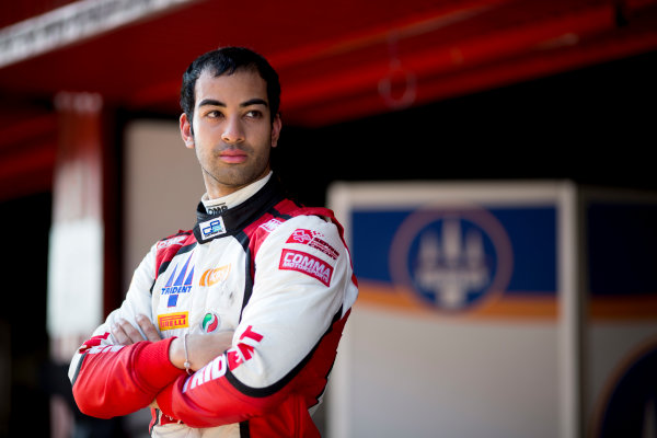 Circuit de Barcelona Catalunya, Barcelona, Spain. Wednesday 15 March 2017. Nabil Jeffri, (MAS, Trident). Portrait.  Photo: Alastair Staley/FIA Formula 2 ref: Digital Image 585A0080