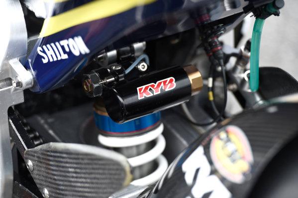2017 Moto2 Championship - Round 16 Phillip Island, Australia. Thursday 19 October 2017 Xavi Vierge, Tech 3 Racing bike detail World Copyright: Gold and Goose / LAT Images ref: Digital Image 698222