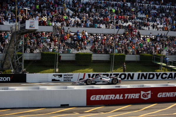 Verizon IndyCar Series ABC Supply 500 Pocono Raceway, Long Pond, PA USA Monday 21 August 2017 Will Power, Team Penske Chevrolet takes the checkeres t Pocono World Copyright: Gregg Feistman LAT Images