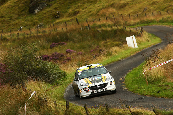 2017 British Rally Championship, Ulster Rally, Londonderry. 18th - 19th August 2017. Callum Devine / Keith Moriarty Opel Adam World Copyright: JEP/LAT Images.