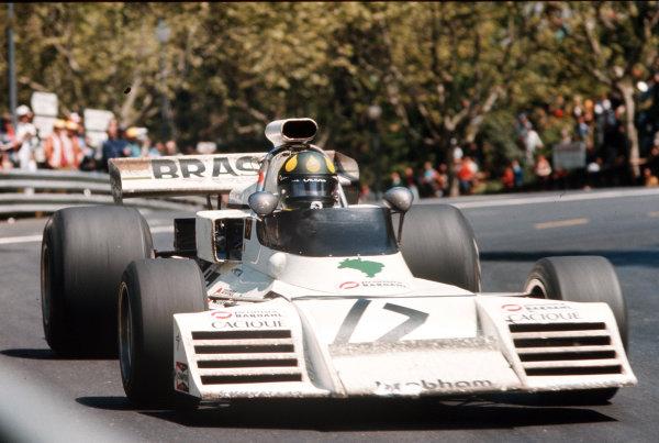 Montjuich Park, Barcelona, Spain.27-29 April 1973.Wilson Fittipaldi (Brabham BT42 Ford) 10th position.Ref-35mm 73 ESP 26.World Copyright - LAT Photographic