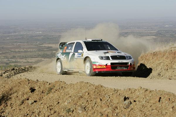 2005 FIA World Rally Champs. Round threeRally Mexico.10th - 13th March 2005.Jani Paasonen,Skoda, action.World Copyright: McKlein/LAT