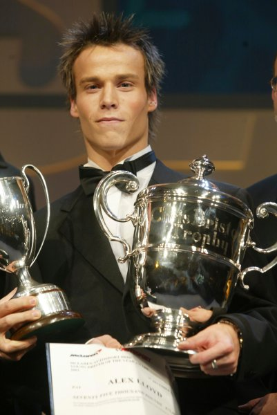 2003 AUTOSPORT AWARDS, The Grosvenor, London. 7th December 2003.Alex Lloyd, McLaren Autosport Young Driver of the year.Photo: Peter Spinney/LAT PhotographicRef: Digital Image only