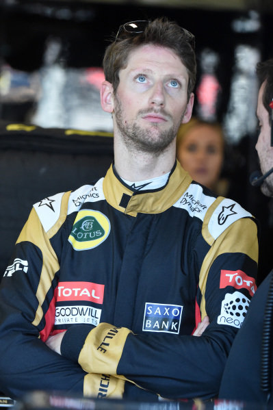 Romain Grosjean (FRA) Lotus F1 at Formula One World Championship, Rd1, Australian Grand Prix, Practice, Albert Park, Melbourne, Australia, Friday 13 March 2015.