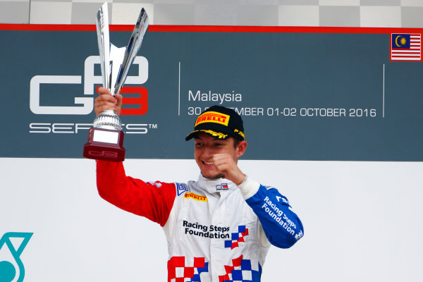 Jake Dennis (GBR, Arden International)  2016 GP3 Series Round 8 Sepang International Circuit, Sepang, Malaysia. Sunday 2 October 2016  Photo: Zak Mauger/GP3 Series Media Service ref: Digital Image _X0W9278