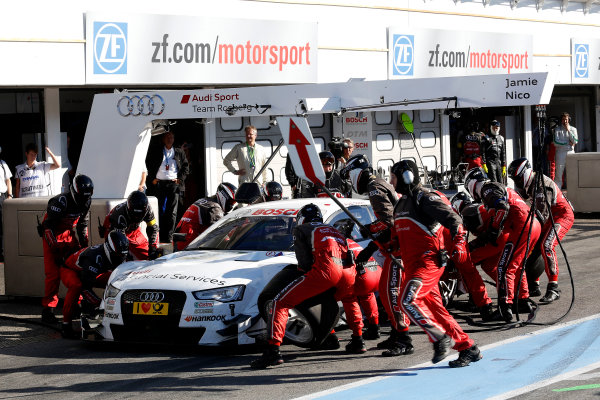 2014 DTM Championship Round 10 - Hockenheim, Germany 17th - 19th October 2014 Pitstop, Nico M?ller (SUI) Audi Sport Team Rosberg Audi RS 5 DTM World Copyright: XPB Images / LAT Photographic  ref: Digital Image 3354455_HiRes