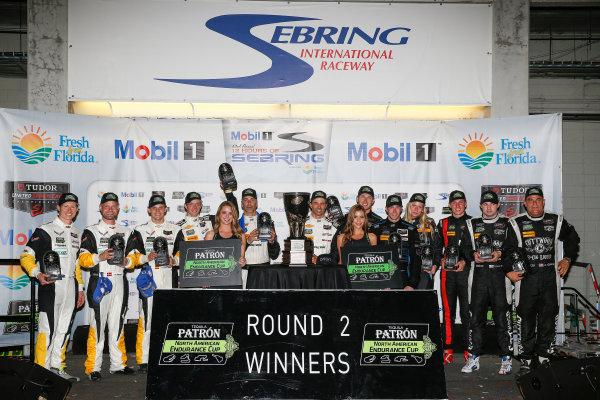19-21 March, 2015, Sebring, Florida, USA Tequila Patron North American Endurance Cup Podium ©2015, Michael L. Levitt LAT Photo USA