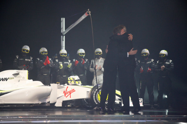 Monaco, 11th December 2009.FIA Formula One World Championship - Jenson Button and Ross Brawn, Brawn GP.Copyright Free for Editorial Use Only, Credit FIAref: Digital Image Only