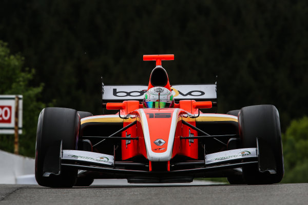 SPA-FRANCORCHAMPS 20-22 May 2016: Formula V8 3.5 at Spa-Francorchamps. Alfonso Celis Jr. #15 AVF. Portrait. © 2016 Sebastiaan Rozendaal / Dutch Photo Agency / LAT Photographic